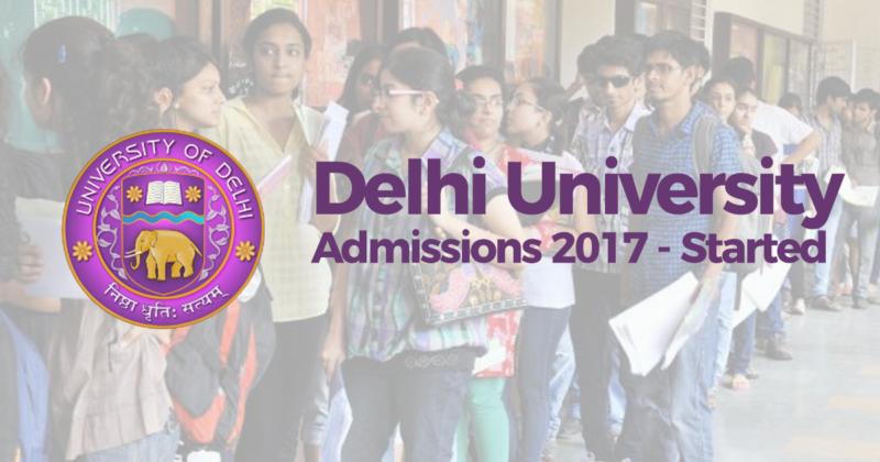Delhi University - Admissions Started